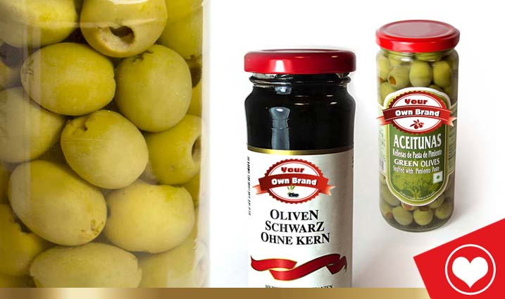 PRIVATE LABEL OLIVES
